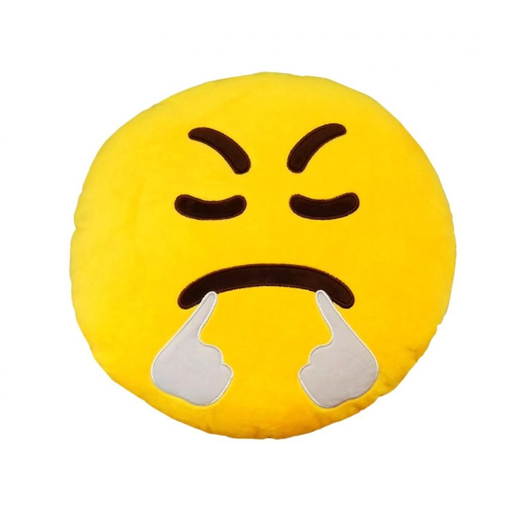 557315A Cuscino emoticon faccia che SBUFFA ø 30 cm circa giallo