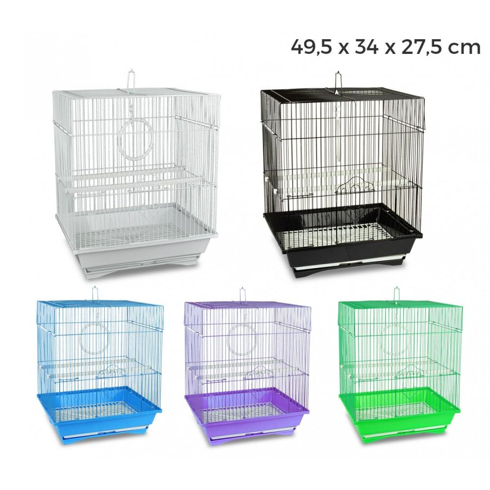189139 Gabbia uccelli di piccole dimensioni KANDY 49,5x34x27,5 cm due mangiatoie