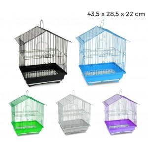 189085 Gabbia per uccelli di piccole dimensioni BIRD 43.5x28.5x22 cm mangiatoie