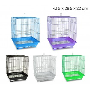 189092 Gabbia per uccelli di piccole dimensioni TITTI 43.5x28.5x22cm mangiatoie