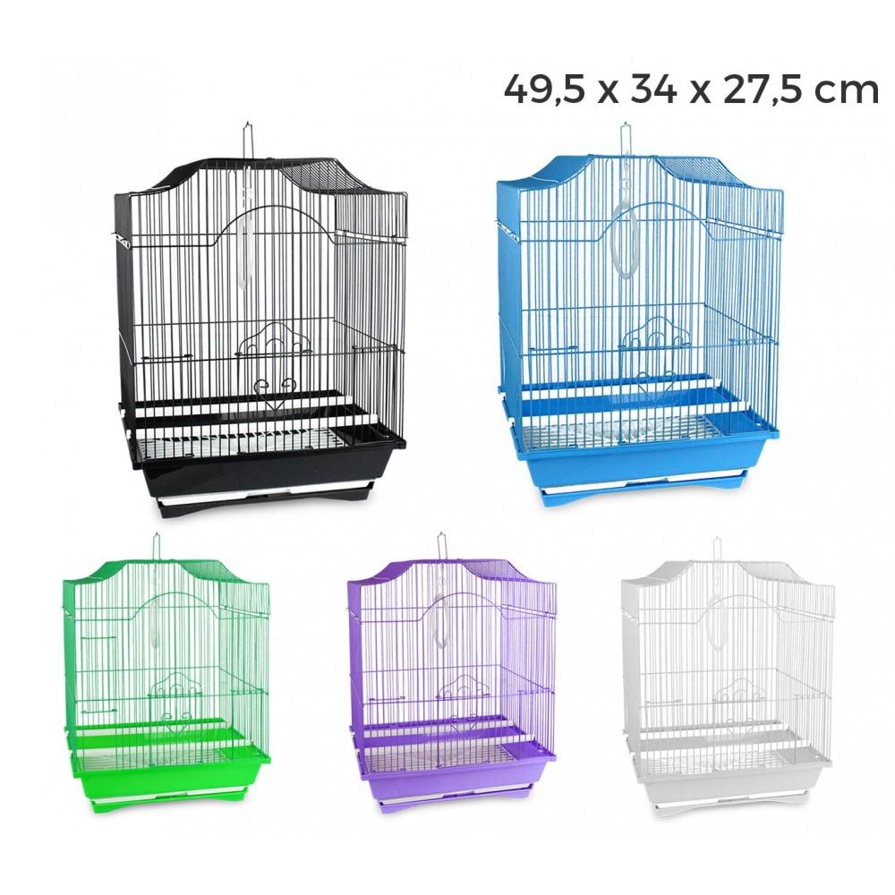 189146 Gabbia per uccelli 49.5x34.27 cm di piccole dimensioni mangiatoie incluse