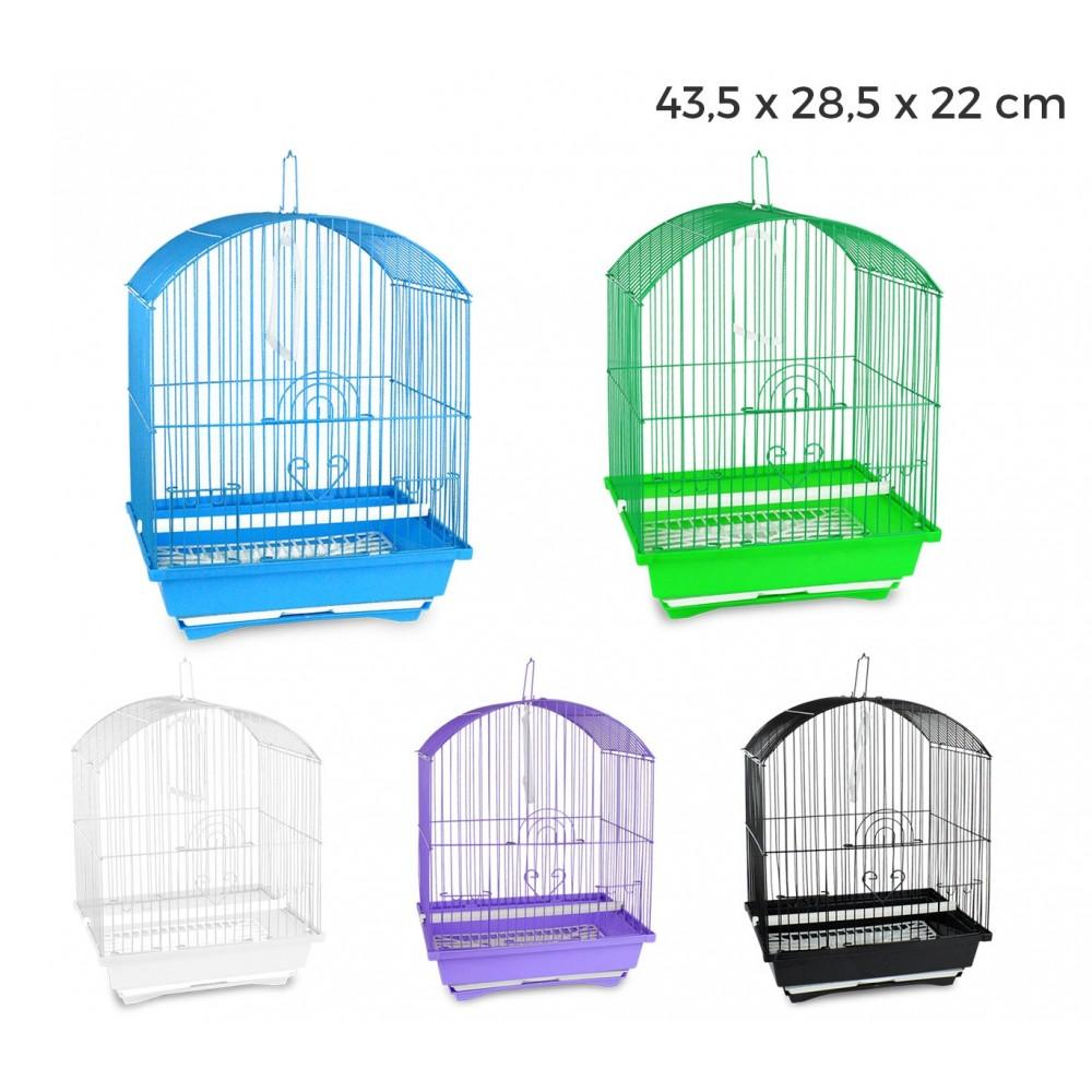 189078 Gabbia per uccelli 43.5x28.5x22 di piccole dimensioni mangiatoie incluse