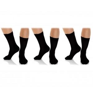 N826 Pack da 6 o 12 paia di calze corte nere da uomo in caldo cotone calzini