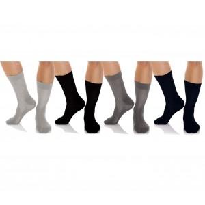 N825 Pack da 12 o 24 paia di calze corte da uomo vari colori in caldo cotone