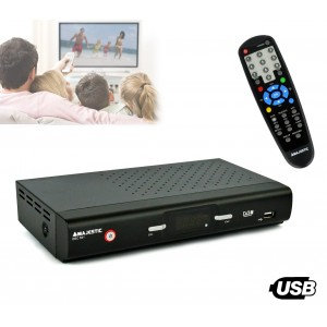 DEC 551 Ricevitore DVB-T digitale terrestre doppia presa a scart Majestic USB