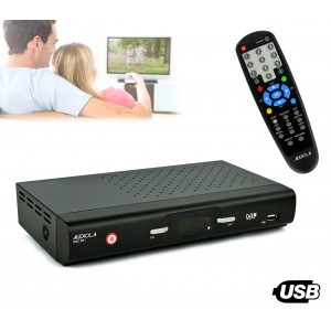 DEC 651 Ricevitore DVB-T digitale terrestre doppia presa a scart Audiola USB