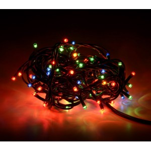 013447 Minilucciole natalizie MULTICOLORE 100 luci 8 giochi di luci cavo verde