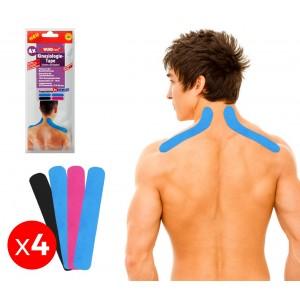 626657 Set 4 nastri per Kinesiologia applicata per spalle e nuca taping