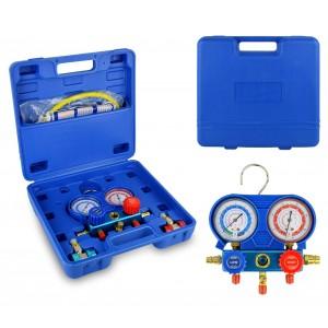 G02670 Set manometro a 2 vie per diagnosi gas condizionatori di aria e auto