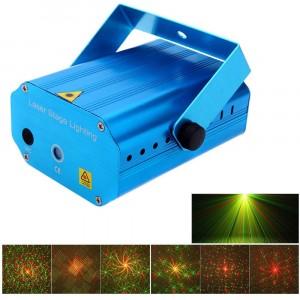 Proiettore luci laser con potenziometro vari effetti verde e rosso lighting show disco