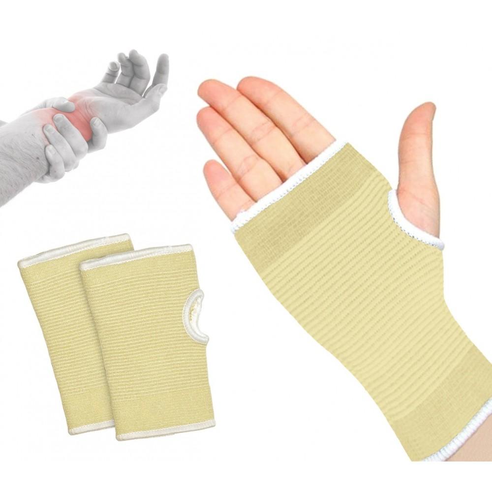 068089 Set 2 supporti a fascia per polso in cotone elastico EVERTOP beige