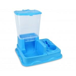 Image of 3028 Dispenser BIG automatico cibo e acqua per cani e gatti doppia ciotola 6902011556405