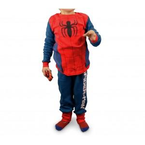 1720 Pigiama da bambino con motivo di Spiderman in caldo pile da 4 a 8 anni