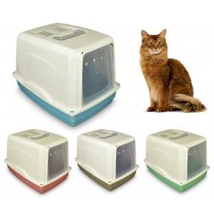 69462 Toilette per gatti COMFORT 54x39x39 cm filtro ai carboni attivi maniglia