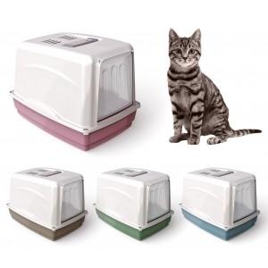 10582 Toilette per gatti VICKY porta basculante 54x39x39 cm carboni attivi