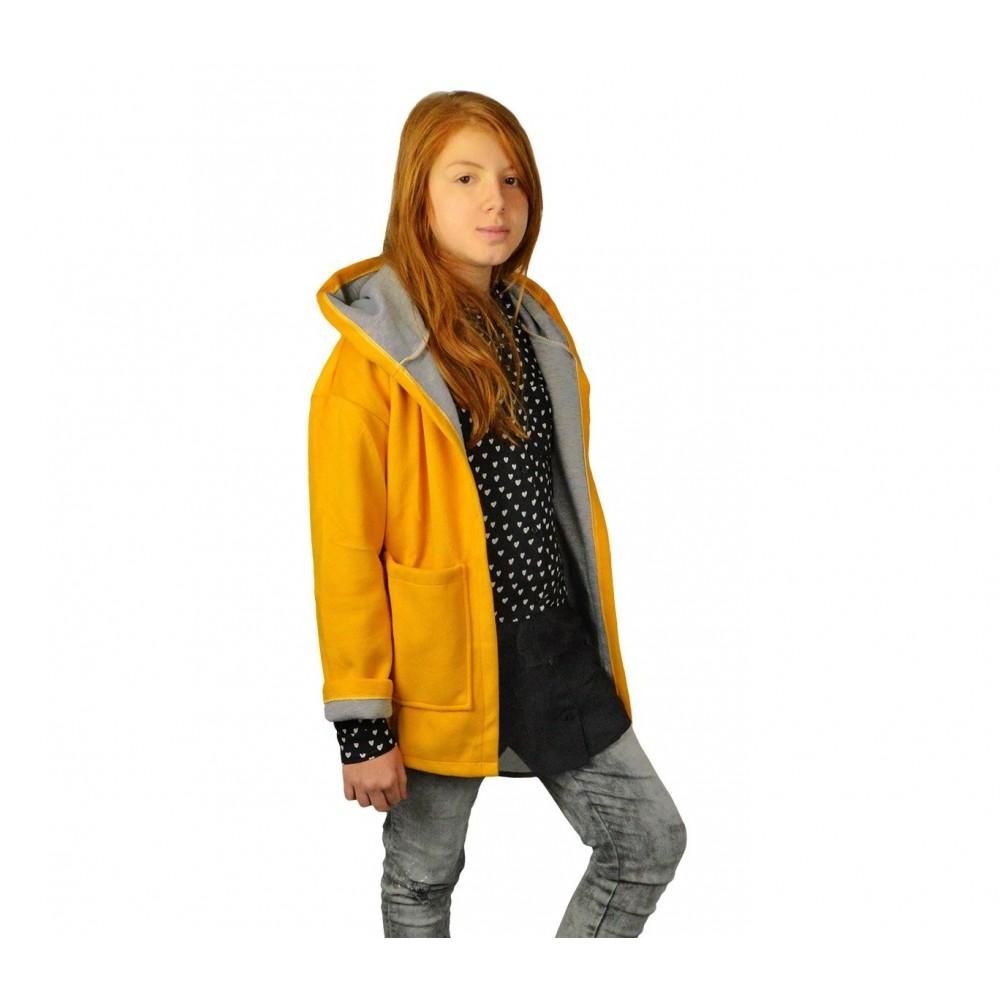 official photos b28df fd01c 3448 Cappotto da bambina in pile con cappuccio mod. Amabel in 2 colori 9-16  anni