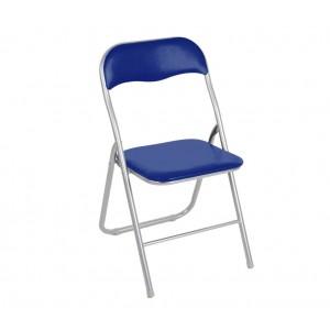 2008AN0816 Set 4 sedie pieghevoli colorate ass. Lione imbottita con base metallo