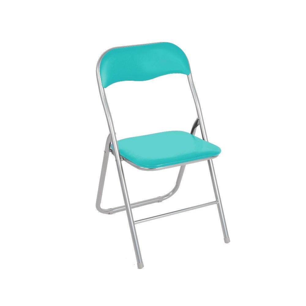 2008AN0816 Set 6 sedie pieghevoli colorate ass Oslo imbottita