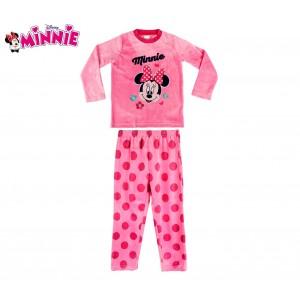 1788 Pigiama da bambina con grafica di Minnie Mouse in caldo pile da 3 a 6 anni