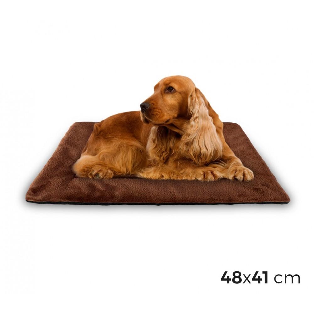 3003 Materassino morbido in vellutino per cani taglia M marrone 48 x 41 cm