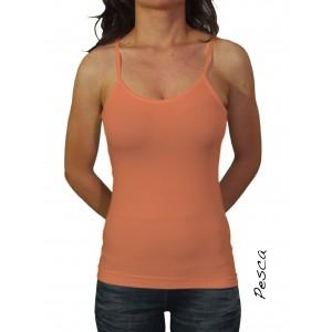 Image of Canotta canottiera slim fit  maglia donna bretelle slim elastica 8047478589240