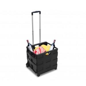 334115 Carrello trolley portaspesa pieghevole in plastica portata max 25 Kg