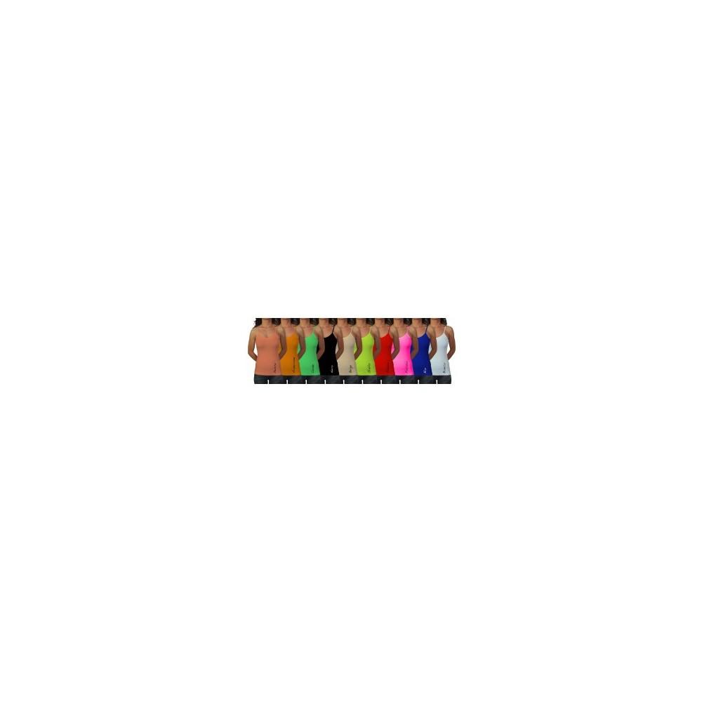 Canotta canottiera slim fit  maglia donna bretelle slim elastica