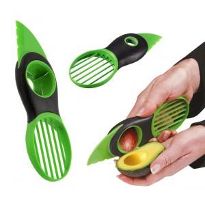 Image of 035215 Taglia e affetta avocado 3 in 1 con lama snocciolatore e affettatrice 8022221547883