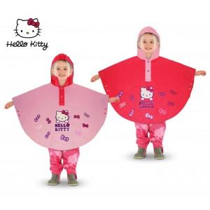 HK811 Poncho impermeabile per bambine di Hello Kitty con cappuccio da 2 a 6 anni