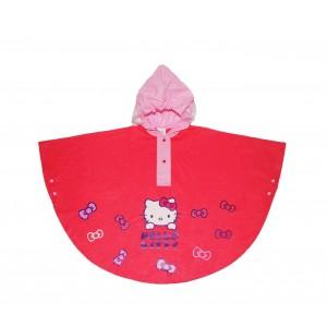 Image of HK811 Poncho impermeabile per bambine di Hello Kitty con cappuccio da 2 a 6 anni 6900418456120
