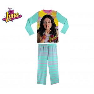 826329 Pigiama da bambina con grafica Soy Luna in caldo cotone da 6 a 12 anni