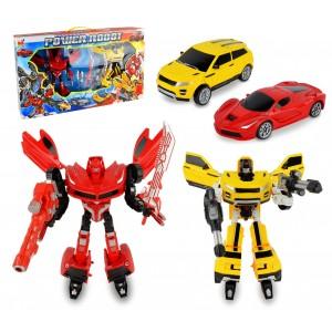 Image of 37749 Power robot trasformabili in automobile 2 modelli giallo e rosso con armi 6908406874154