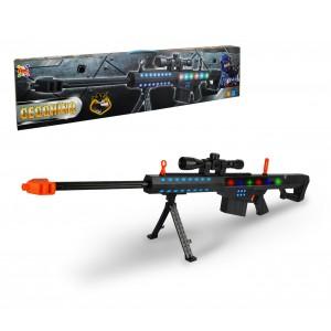 374907 Fucile da cecchino giocattolo per bambini con luci e suoni