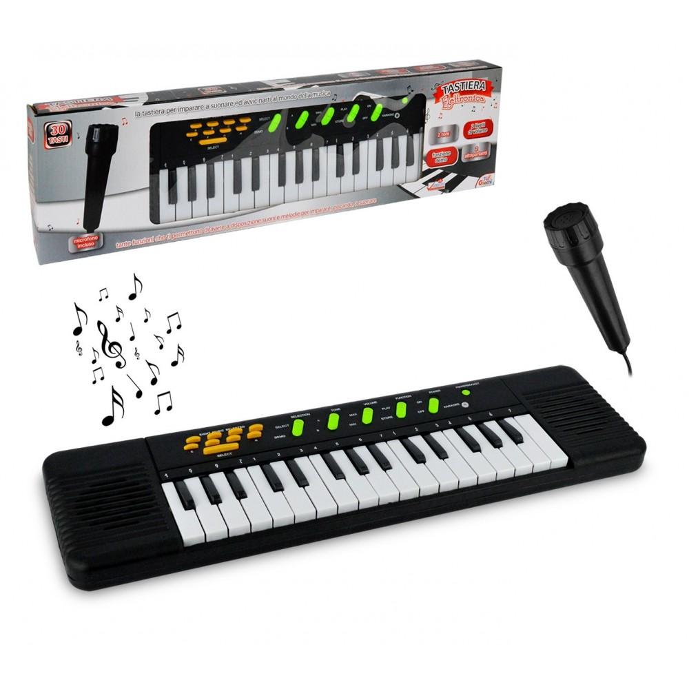 100378 Tastiera elettronica giocattolo con microfono 32 tasti con 8 melodie
