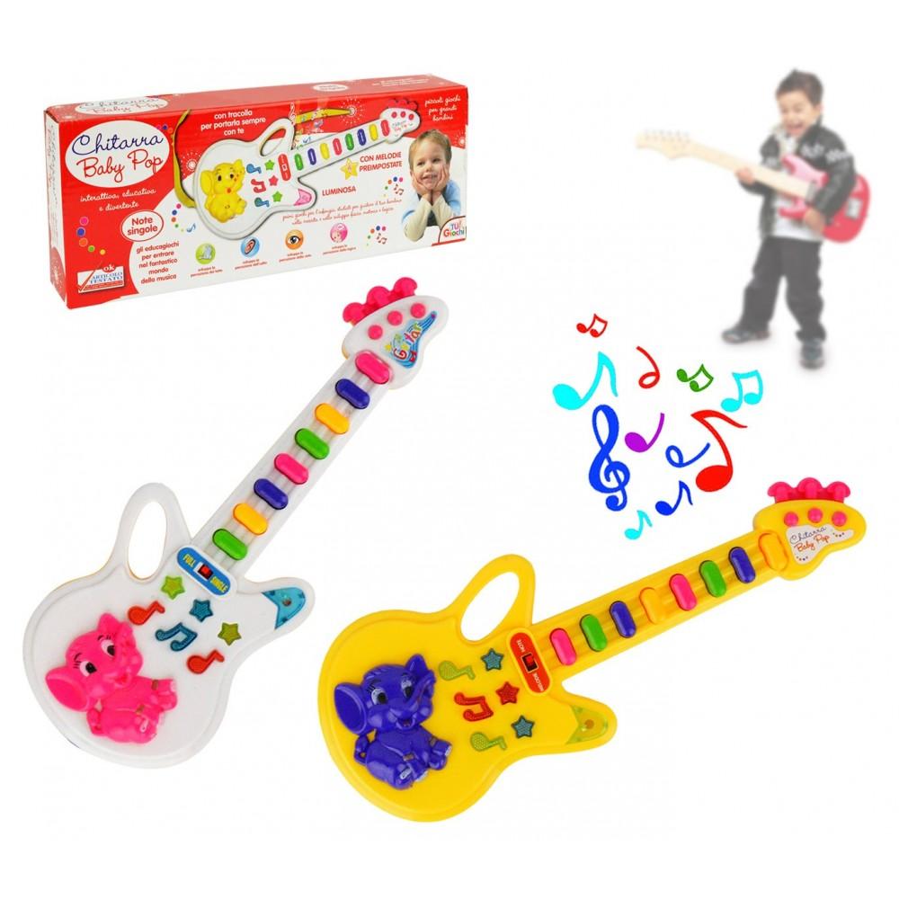 103855 Chitarra giocattolo Baby Pop con luci melodie preimpostate e tracolla