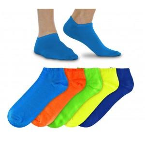Image of N803 Pack da 12 paia di fantasmini fluo da uomo vari colori in cotone 6942811008469