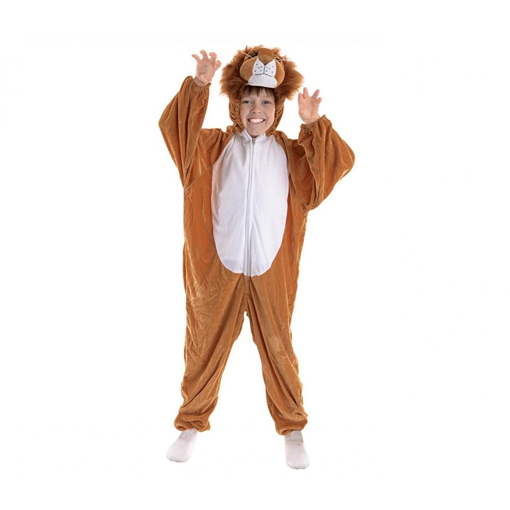 227691 Costume carnevale Leone Bimbo - Bimba tutina con zip da 1 a 4 anni