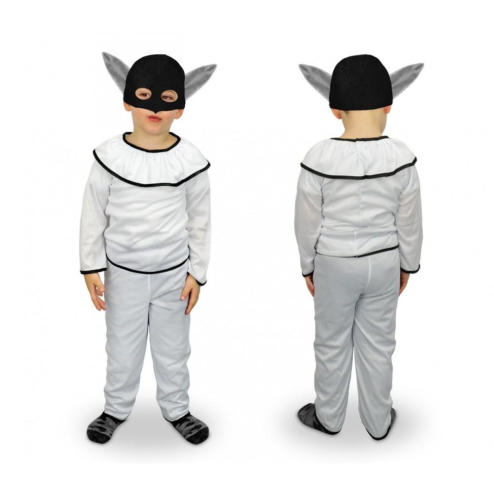 537363 Costume carnevale travestimento Pulcinella Bambino  da 3 a 12 anni