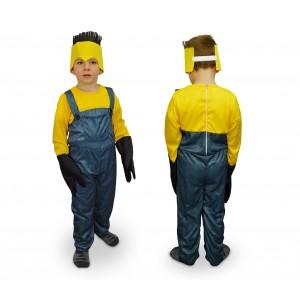 619359 Costume di carnevale Aiutante giallo e blu da Bambino da 3 a 12 anni