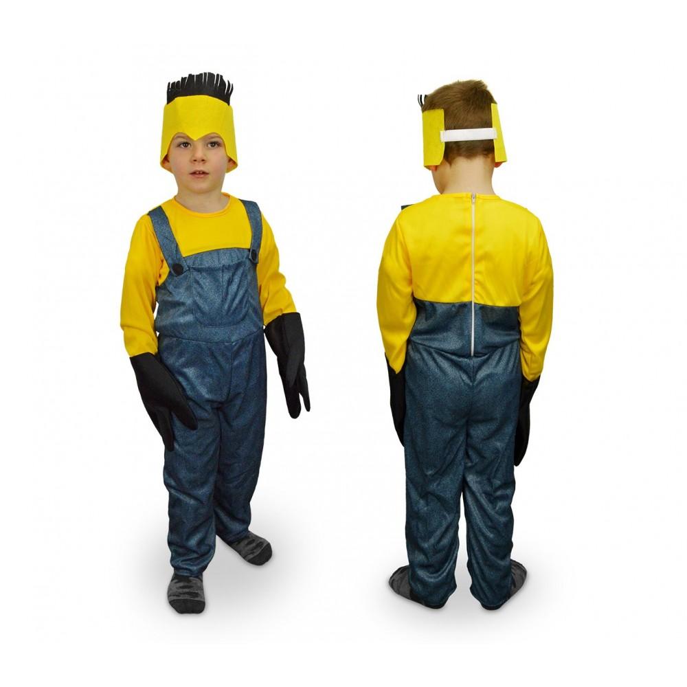 619359 Costume carnevale Aiutante giallo e blu da Bambino da 3 a 12 anni