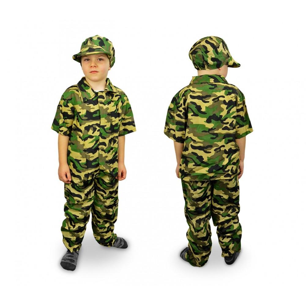 619397 Costume di carnevale Militare da Bambino da 3 a 12 anni ae03d6c40726