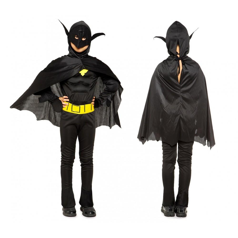 538117 Costume carnevale Super eroe Pipistrello da Bambino da 3 a 12 anni