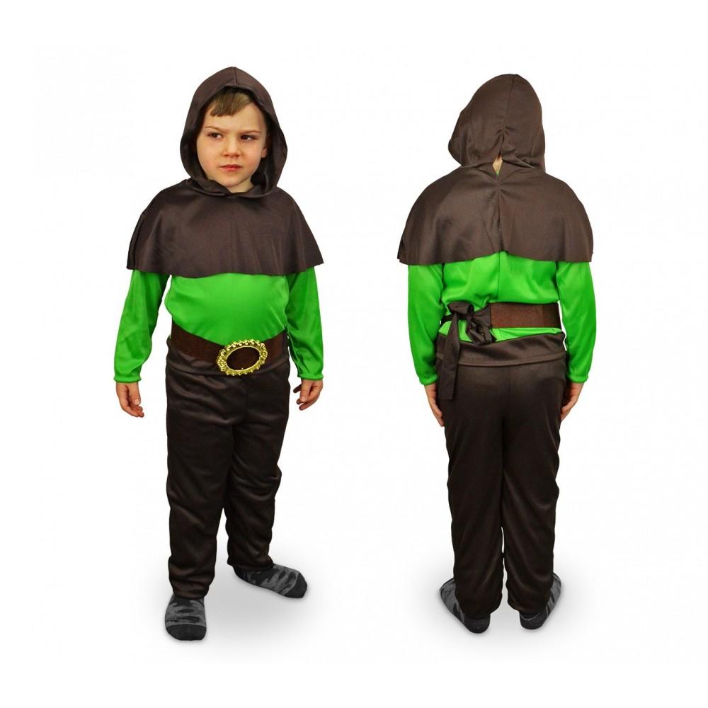 537493 Costume carnevale Re della Foresta da Bambino da 3 a 12 anni