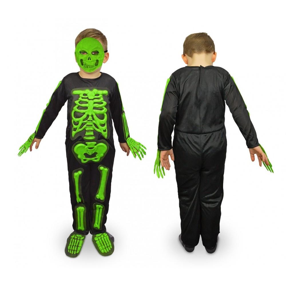 537646 Costume carnevale travestimento Scheletro da Bambino da 3 a 12 anni