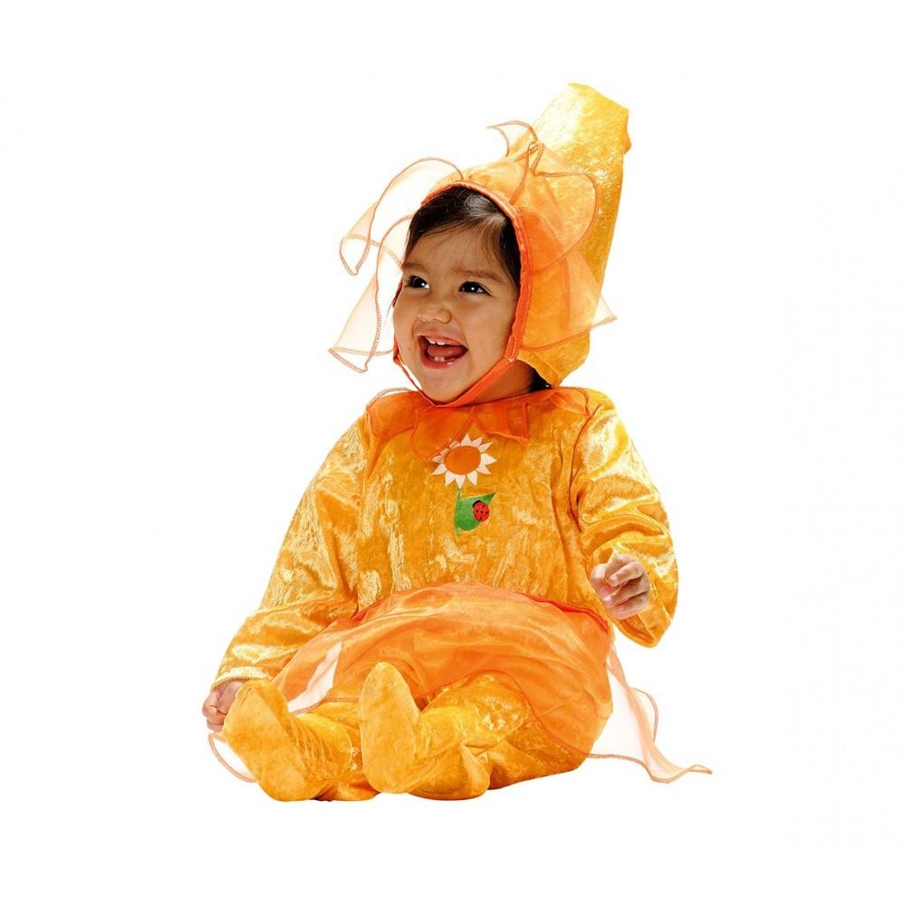 156557 Costume Girasole Bambina da 3 a 12 Mesi