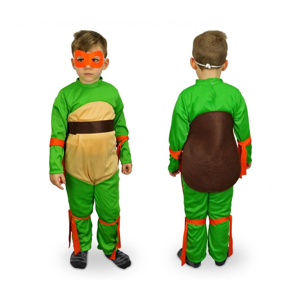 538124 Costume Di Carnevale Tartaruga Guerriero Da Bambino 3 12 Anni
