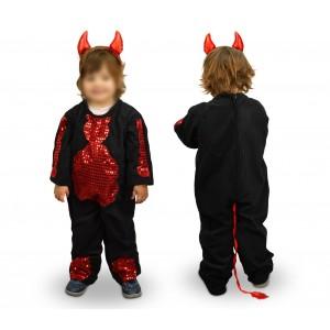 368745 Costume di carnevale da diavoletto da Bambina da 3 a 11 anni