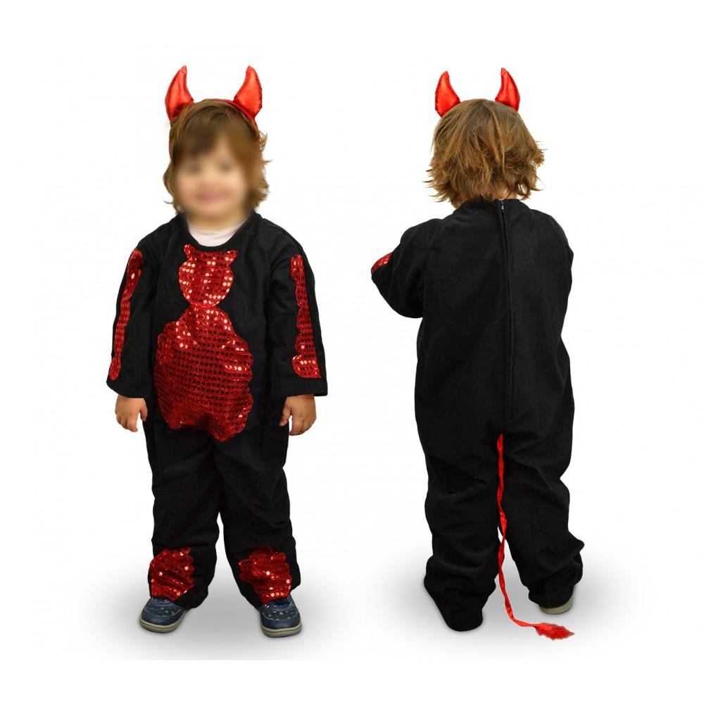 368745 Costume di carnevale travestimento diavoletto da Bambina da 3 a 11 anni