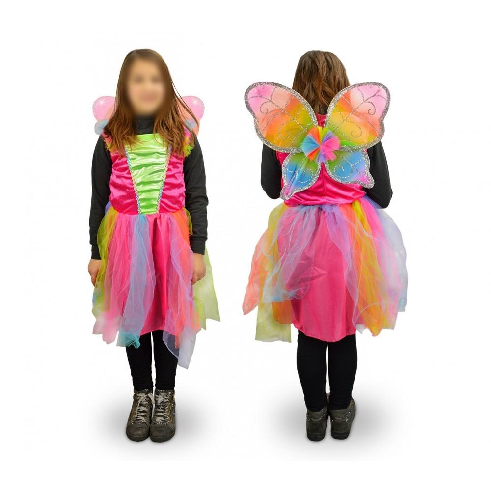 616945 Costume di carnevale travestimento farfalla da Bambina da 3 a 12 anni