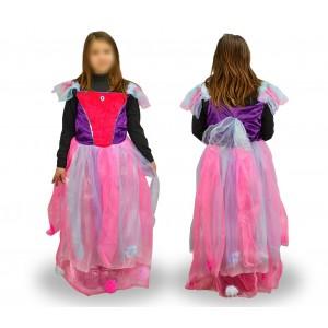 237768 Costume di carnevale da fatina delle favole da Bambina da 3 a 12 anni